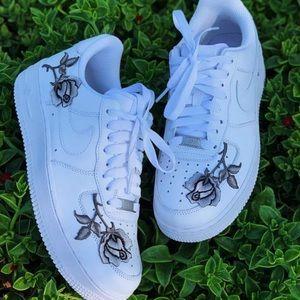 Women's custom rose Nike Air Force ones